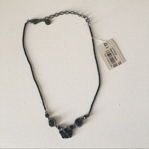 Givenchy Jewelry - Givenchy Black Geometric Bow Beaded Necklace NEW